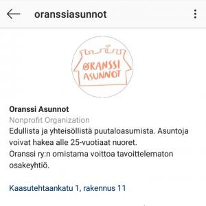Seuraa Oranssi Asuntoja Instagramissa